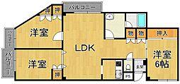 パレ武庫川 パート2[2階]の間取り