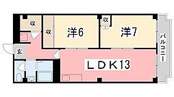 ハイツ柳井[405号室]の間取り