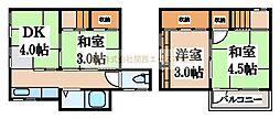 [一戸建] 大阪府堺市堺区南安井町3丁 の賃貸【/】の間取り