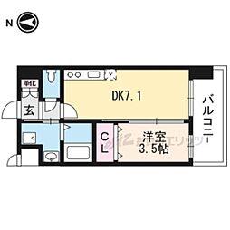 (仮称)アンフィニXVIIマローネ 2階1DKの間取り