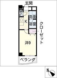 アズ徳重[2階]の間取り