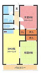 埼玉県さいたま市南区根岸2丁目の賃貸マンションの間取り