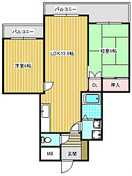 エトワールミサキ[7階]の間取り