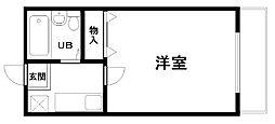 ロジュマン海塚PARTI[302号室]の間取り
