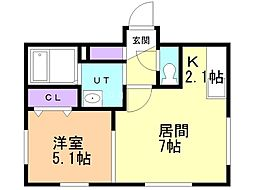 City place nango(シティープレイス南郷) 1階1LDKの間取り