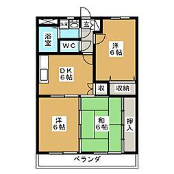 ア・ドリームINOUE[2階]の間取り