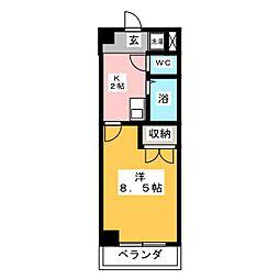 Dino中島[1階]の間取り