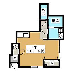 パティオU[1階]の間取り