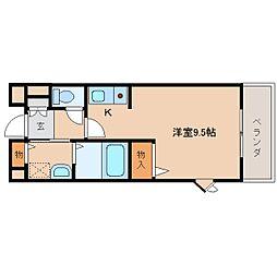 奈良県奈良市大安寺の賃貸マンションの間取り