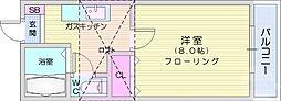 仙台市地下鉄東西線 八木山動物公園駅 3.5kmの賃貸アパート 1階1Kの間取り