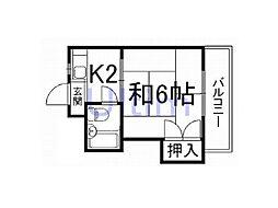 京都府京都市伏見区新町5丁目の賃貸マンションの間取り