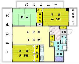 メイプル新宮[3階]の間取り