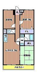 アネックスフジノ[2階]の間取り