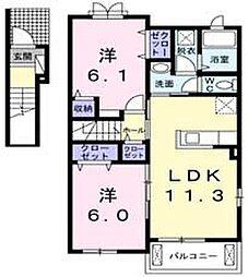 ラ・ドゥサーIII[2階]の間取り