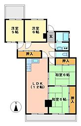二見・坂下マンション[4階]の間取り