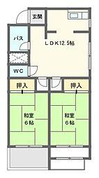 サンローヤル東山No.1[6階]の間取り