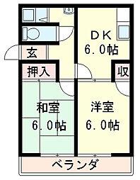 桜宮マンション[4階]の間取り