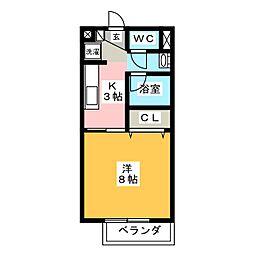 エクセルハイムA[2階]の間取り