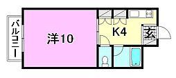 サーコート鷹子[206 号室号室]の間取り