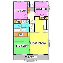 エスポワール新座[5階]の間取り