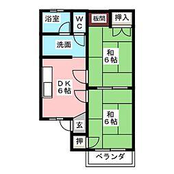 ロイヤルハイツ 1[2階]の間取り