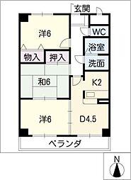 マンションマルカ[2階]の間取り