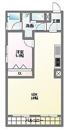 メゾンドゥフォレ[4階]の間取り