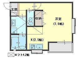 Prunus court[302号室号室]の間取り