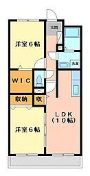 神奈川県川崎市宮前区南平台の賃貸マンションの間取り