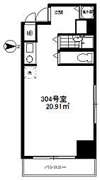 ライオンズマンション三鷹第5[304号室]の間取り