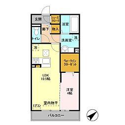 グランドゥールV A棟[1階]の間取り