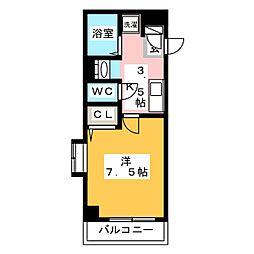 福岡県福岡市博多区下川端町の賃貸マンションの間取り