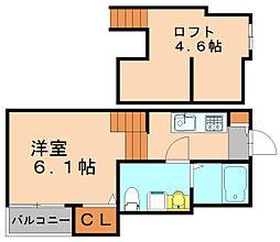 ニューライフ博多駅東[2階]の間取り