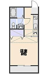 ベノーネ新所沢[206号室]の間取り
