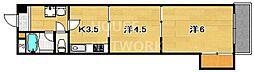 京都ノーザンフラット[406号室号室]の間取り