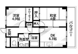 メゾン幕張[2階]の間取り