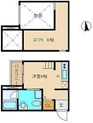 兵庫県尼崎市昭和通2丁目の賃貸アパートの間取り