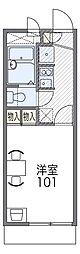 Osaka Metro四つ橋線 住之江公園駅 徒歩13分の賃貸マンション 3階1Kの間取り