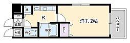 プレサンス京都三条大橋東山苑[208号室号室]の間取り