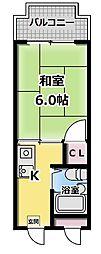 コーポタカハシB棟[4階]の間取り