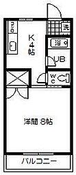 コーポ宮本 B棟[201号室]の間取り