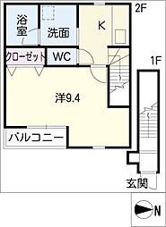 サンシアルザ新地[2階]の間取り