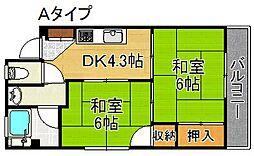 住之江パークハイツNO.1[1階]の間取り