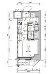 トラディス横川 3階1Kの間取り