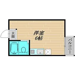 フォルム太子橋[210号室]の間取り