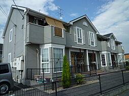 岡山県倉敷市茶屋町早沖の賃貸アパートの外観