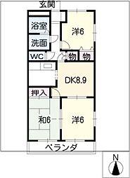 コンフォート雅[3階]の間取り