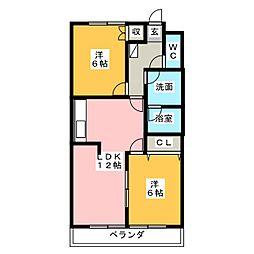 ジョイフル本町[4階]の間取り