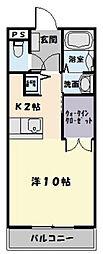 コッジーコートFUKATA[309号室]の間取り