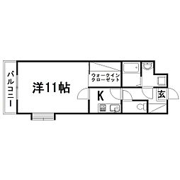 静岡県浜松市東区北島町の賃貸マンションの間取り